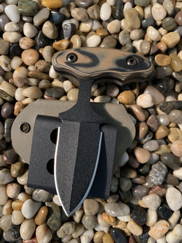 "2.5"" inch Push dagger, Black finish, Coyote-Black G10 handle"