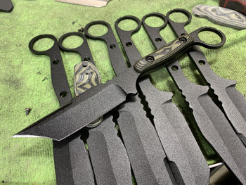 Bandit: Wicked Grind, Od green/ Black G10 Handle, sharp on top, Black finish, 1 inch ring