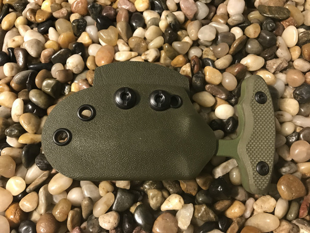 "2.5"" Push dagger with 3 finger grip handle,OD Green textured G10, OD Green finish"