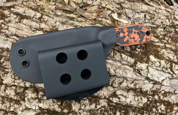 Venom: Tri edge Tanto, 440c steel, OD Green Blade, Orange 3D Machined Handle