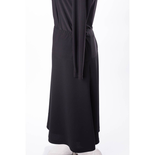 Side View of Maternity Skirt in Black Crepe Fabric cut in A-Lined Style