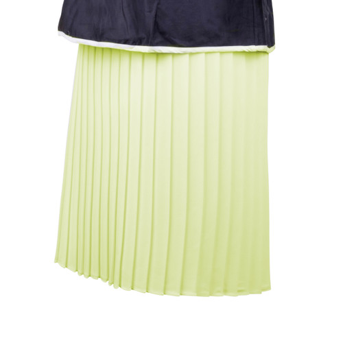 Maternity Skirt in Cream Pleated Fabric with Slinky Cream Panel and Adjustable Rubber at Waist