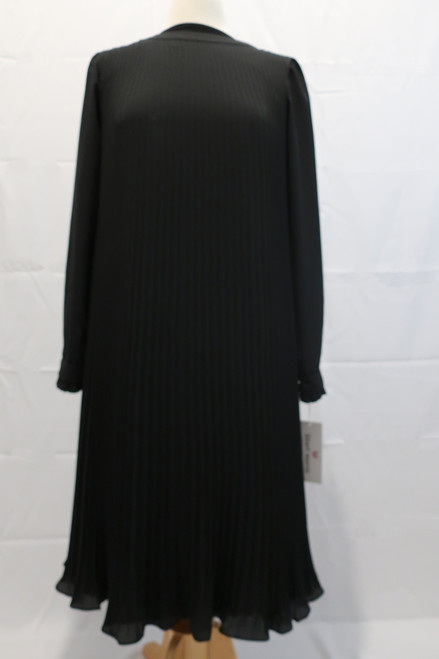 Accordian Pleated black chiffon better dress