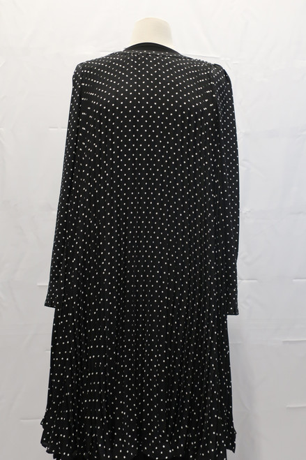 Dotted Accordian Pleated better dress