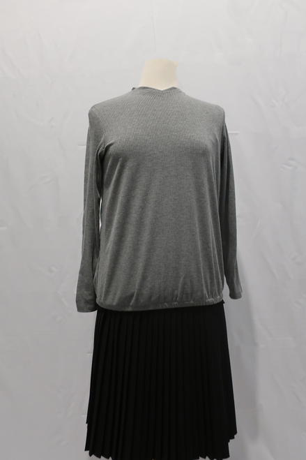 Grey comfy ribbed knit top