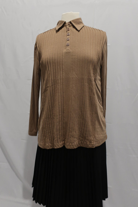 Mocha T-Shirt fabric tucked top