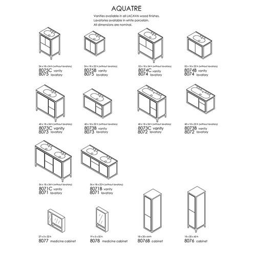 "Aquatre Collection 24""-56""W"