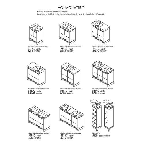 """Aquaquattro Collection #2 24""""-55""""W"""