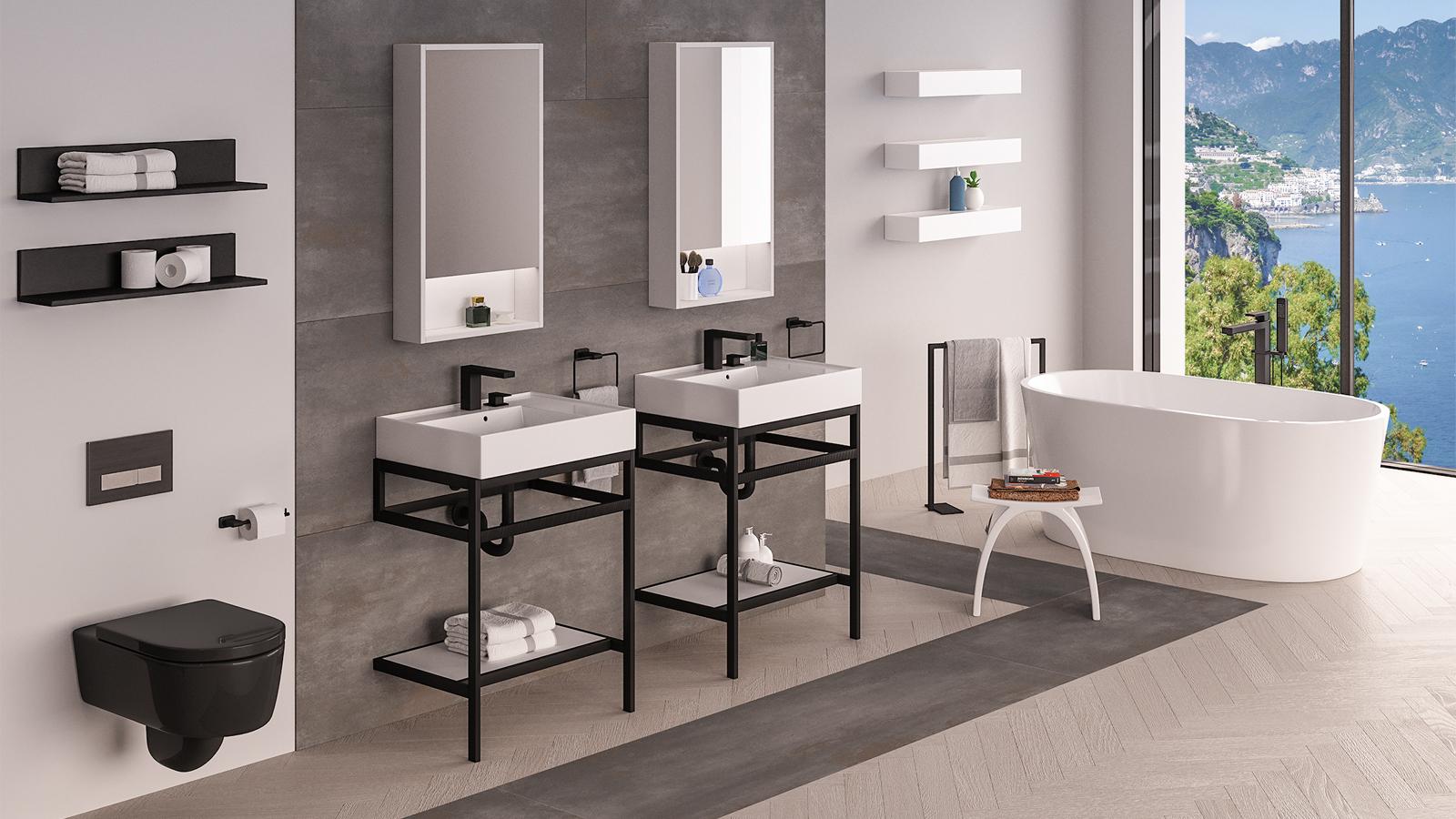 Aquaotto sinks + Aquatre tub