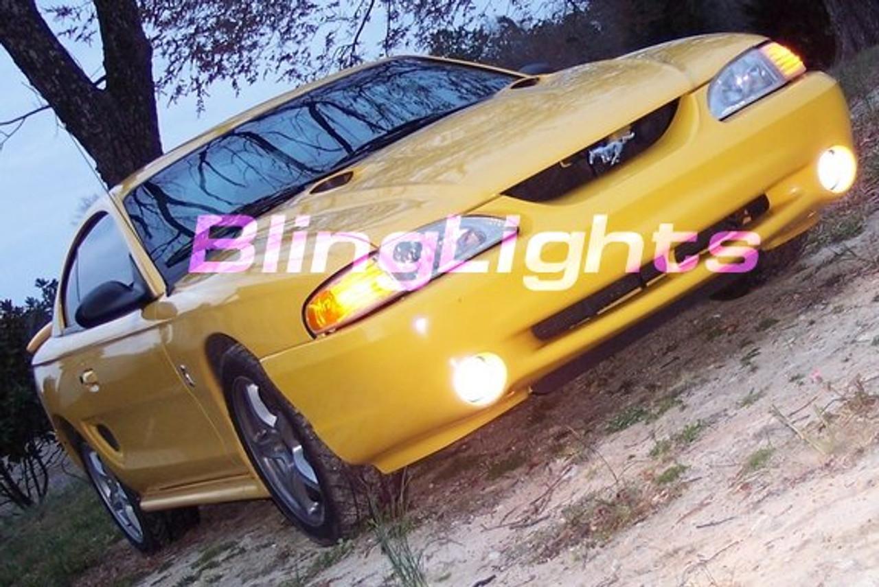 1994 1995 1996 1997 1998 Ford Mustang Cobra Xenon Foglamps Foglights Fog Driving Lamps Lights Kit