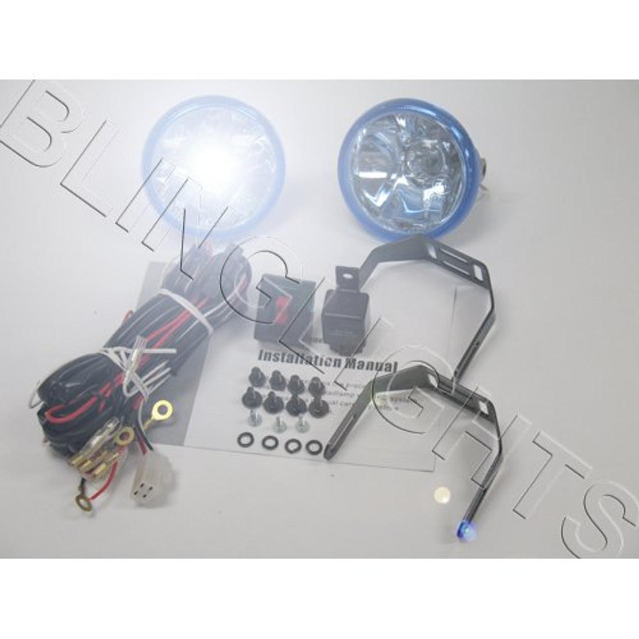 1999 2000 Honda Civic Coupe Si Xenon Foglamps Foglights Fog Lamps Driving Harms Civic Si Wiring Diagram on