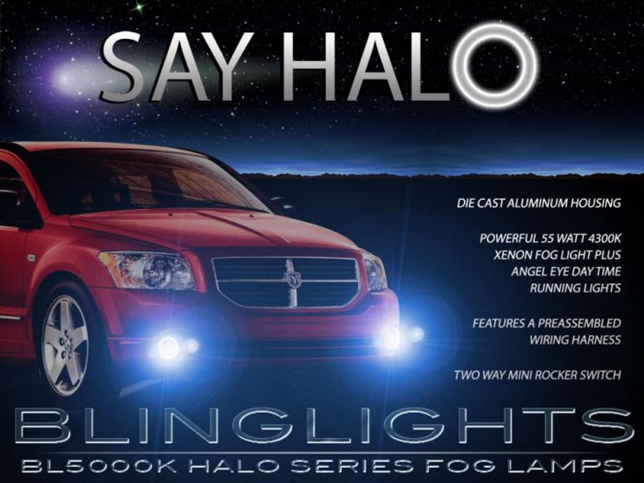2007 2008 2009 2010 2011 Dodge Caliber Angel Eye Halo Foglamps Foglights Driving Fog Lamps Lights