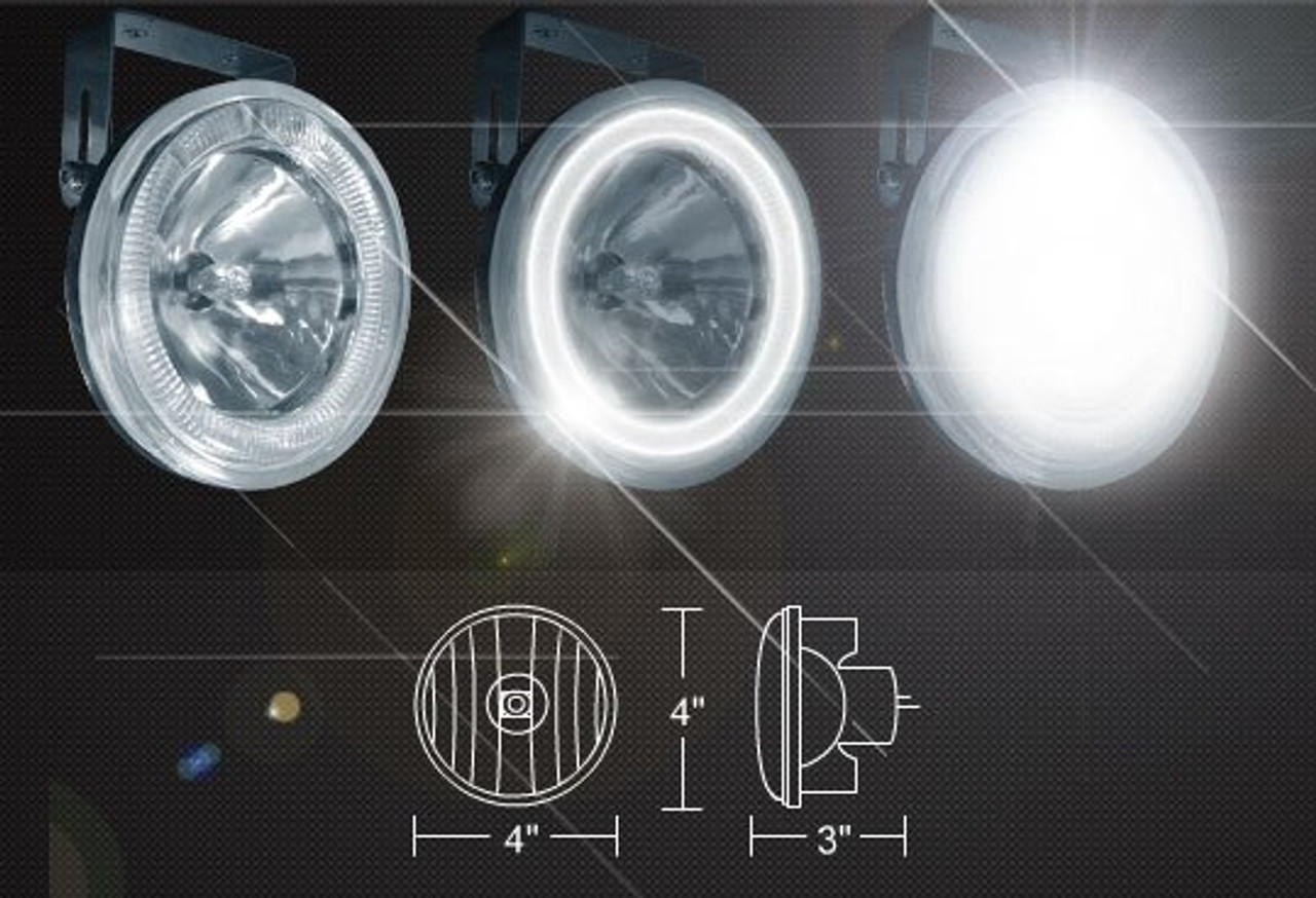 2003 2004 Mercury Marauder Halo Fog Lamps Lights Kit