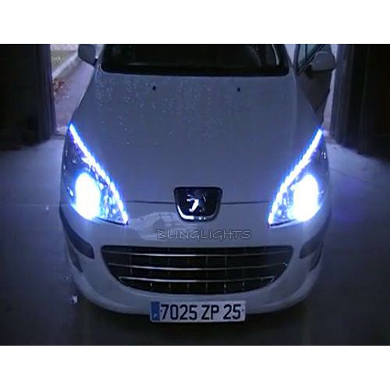 Peugeot 407 Led Strip Lights For Headlamps Headlights Head Lamps Drls Strips Saloon Coupe Estate Blinglights Com