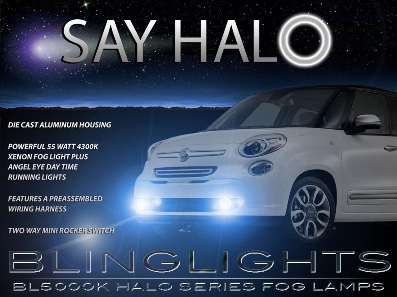 Fiat 500L Halo Fog Lamps Angel Eye Driving Lights Kit Foglamps Foglights Drivinglights