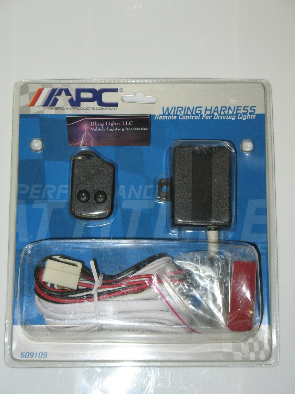 APC 509109 Remote Controlled Auxiliary Light Kit Wiring Harness on