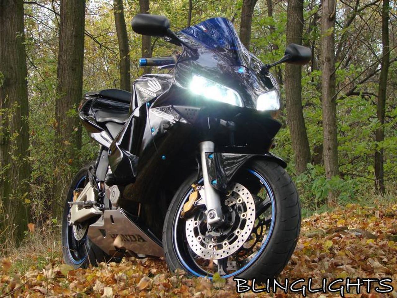 Honda CBR600RR Bright White Low High Light Bulbs for Headlamps Headlights Head Lamps Lights