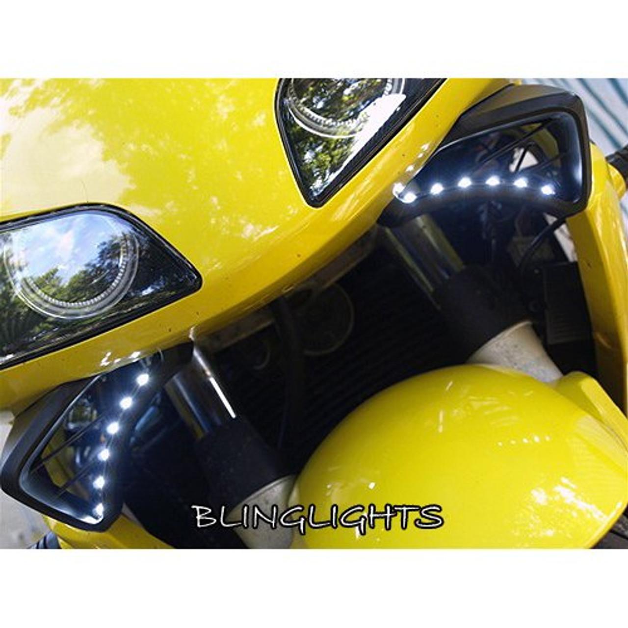 Honda CBR600RR LED DRL Light Strips Headlamps Headlights Head Lamps Day Time Running Strip Lights