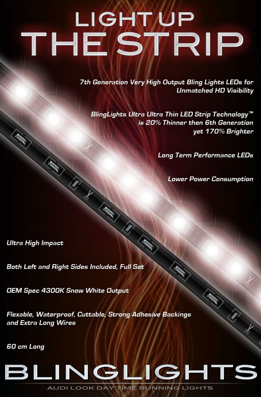Honda FourTrax Rincon LED DRL Light Strips Headlamps Headlights Head Lamps Day Time Running Lights