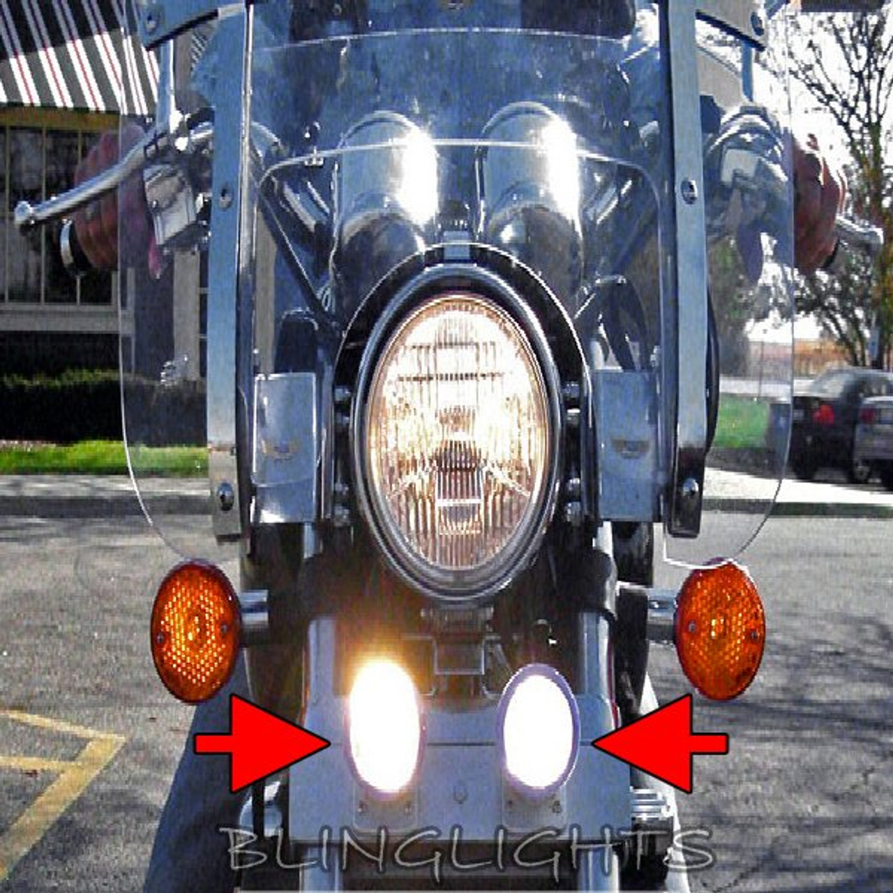 1994-2003 Honda Magna V25 VF250C Xenon Driving Lights Fog Lamps Drivinglights Foglamps Foglights Kit