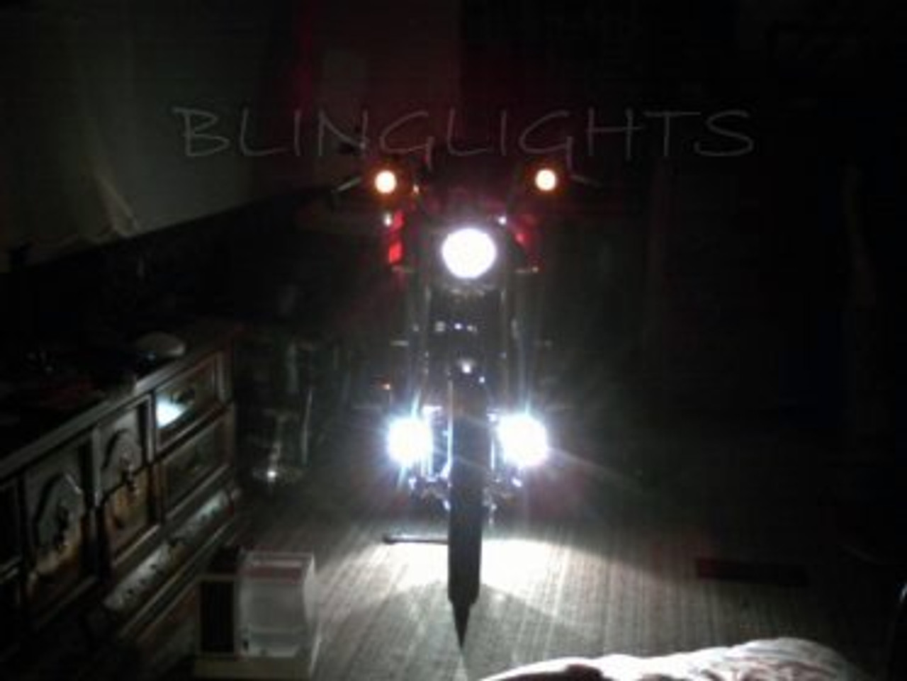 1995 1996 1997 Harley-Davidson FXSTSB Bad Boy Softail Xenon Driving Lights Fog Lamps Foglamps Kit