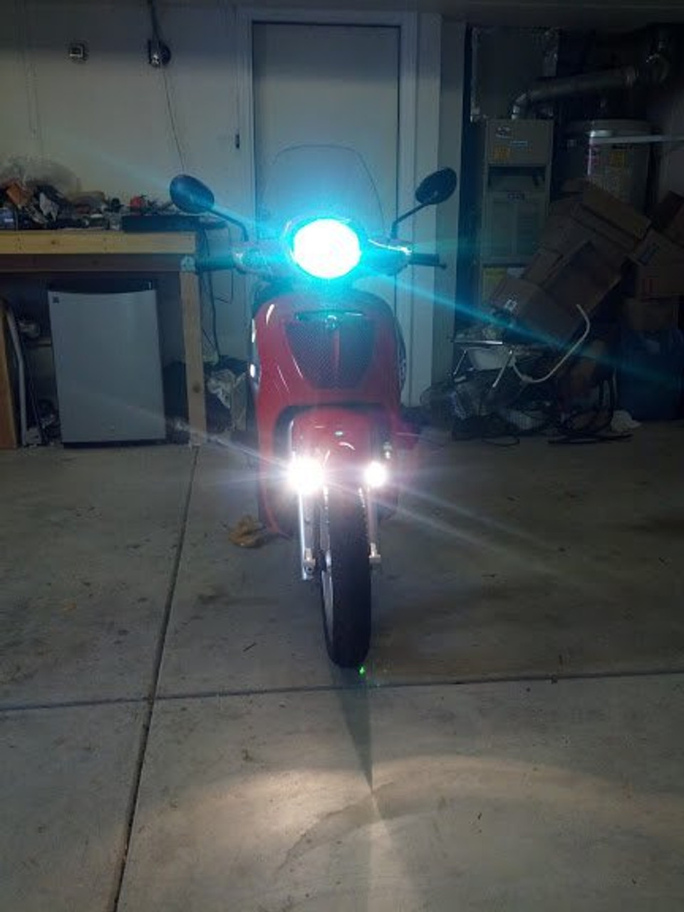 Aprilia Scarabeo 200 Auxiliary LED Flood Lights Lamps Kit