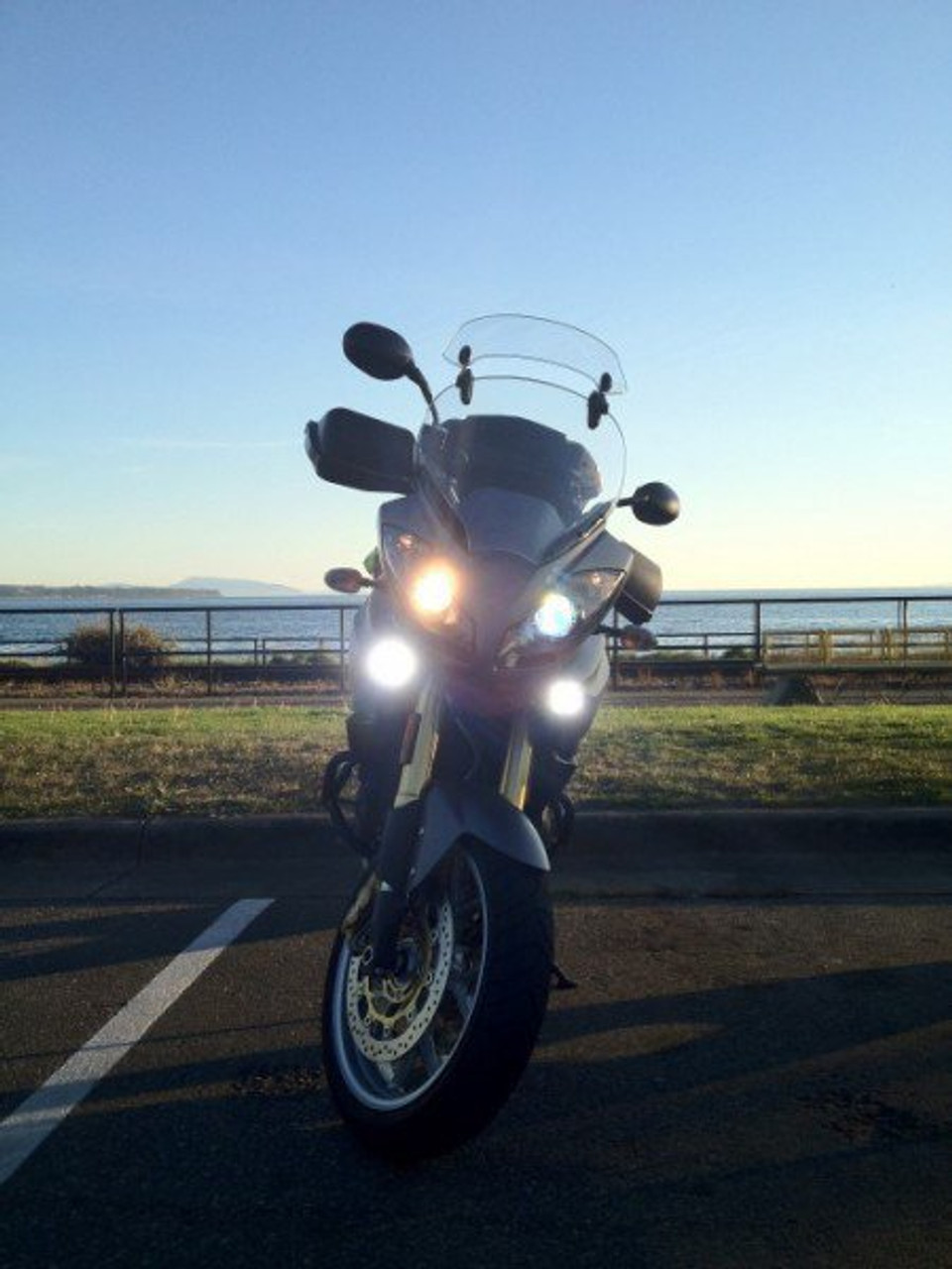 Triumph Tiger LED Flood Lights Auxiliary Lamp Kit