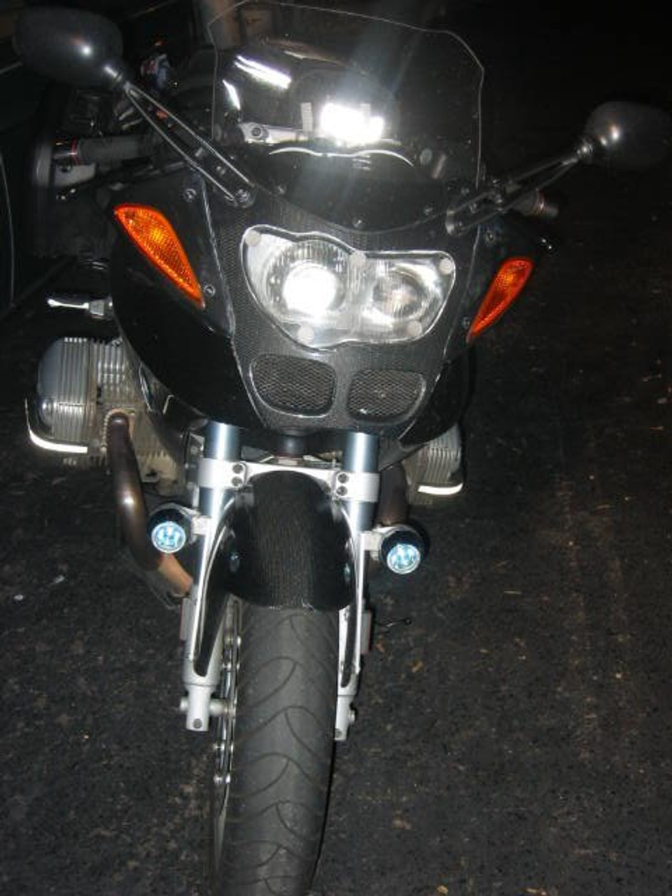 BMW R1100S LED Flood Driving Lights Auxiliary Lamp Kit