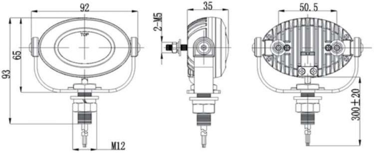 Ducati ST2 ST3 ST4 LED Auxiliary Chrome Flood Light Lamps Kit