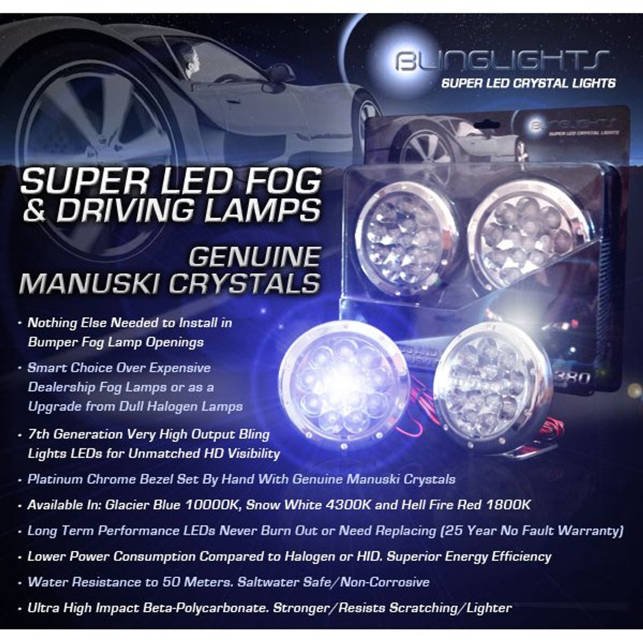 KTM 450 ECC EXC-R MXC SX-F XC-F XCR-W XC-W LED Driving Lights Fog Lamps Drivinglights Foglamps Kit