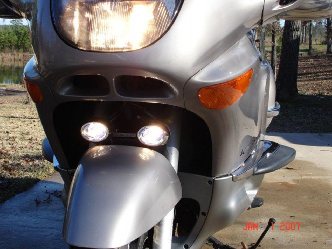 BMW K1200LT LED Flood Lights Auxiliary Lamps Kit