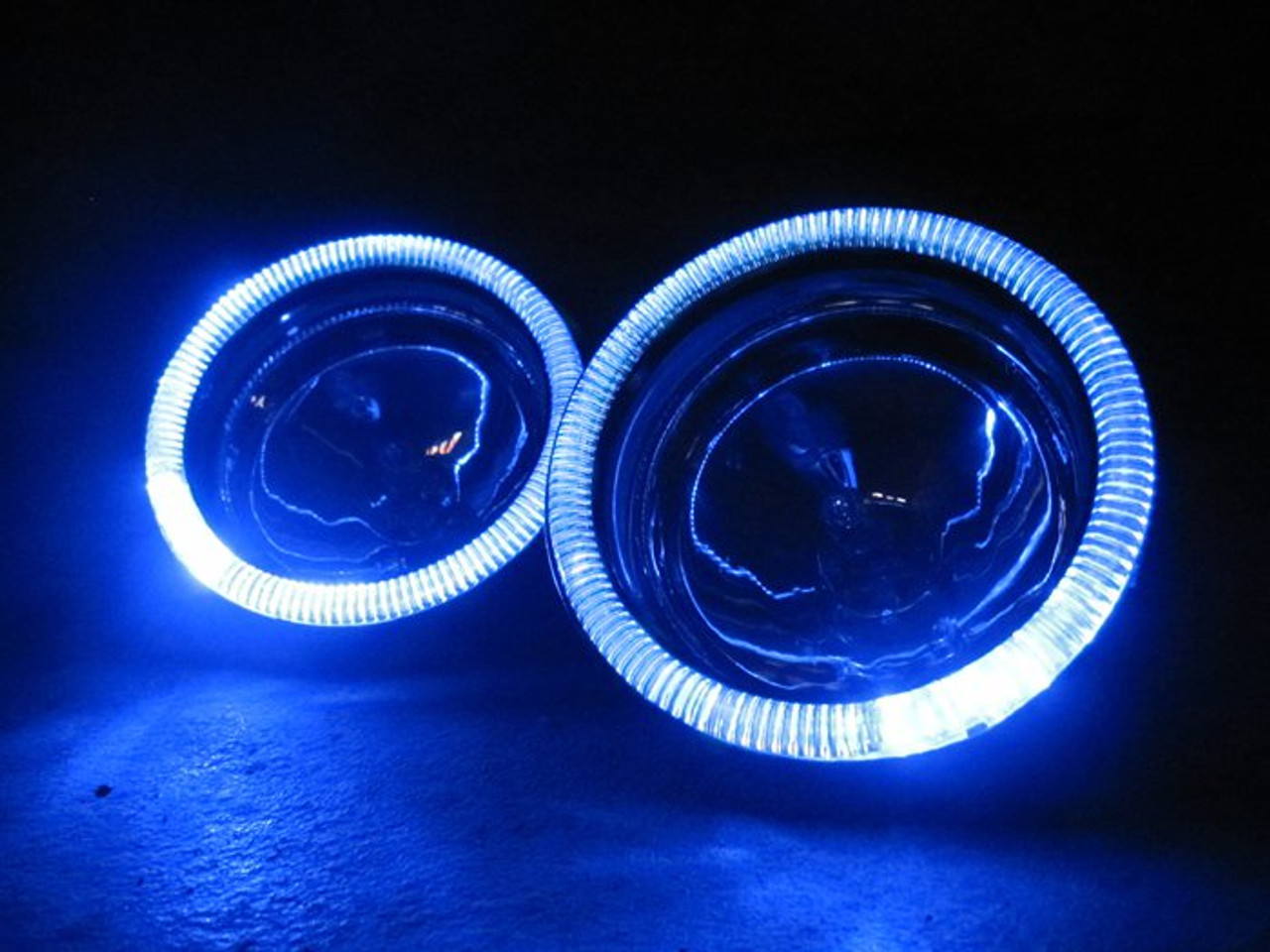 6x Blue LED Campagna T-Rex Addon Angel Eye Headlamp Headlight Halo Rings