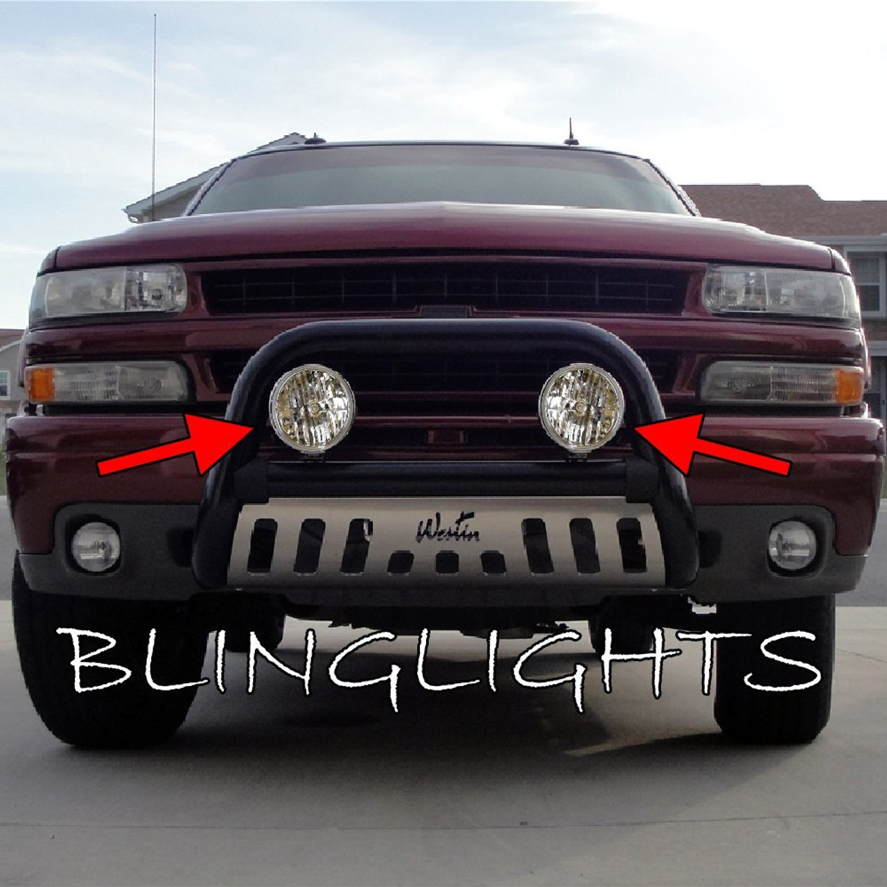 Chevrolet Silverado Auxiliary Driving Lights Bumper Bar Off Road Lamps