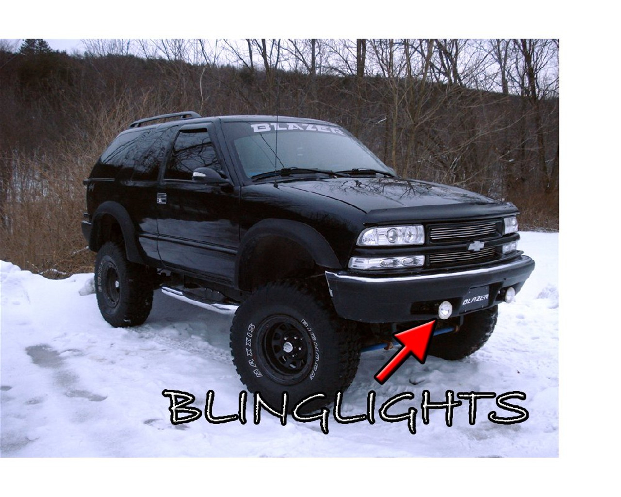 1999 2000 2001 Chevrolet Trailblazer Chevy Blazer Halo Fog Lamps Angel Eye Driving Lights Kit Blinglights Com
