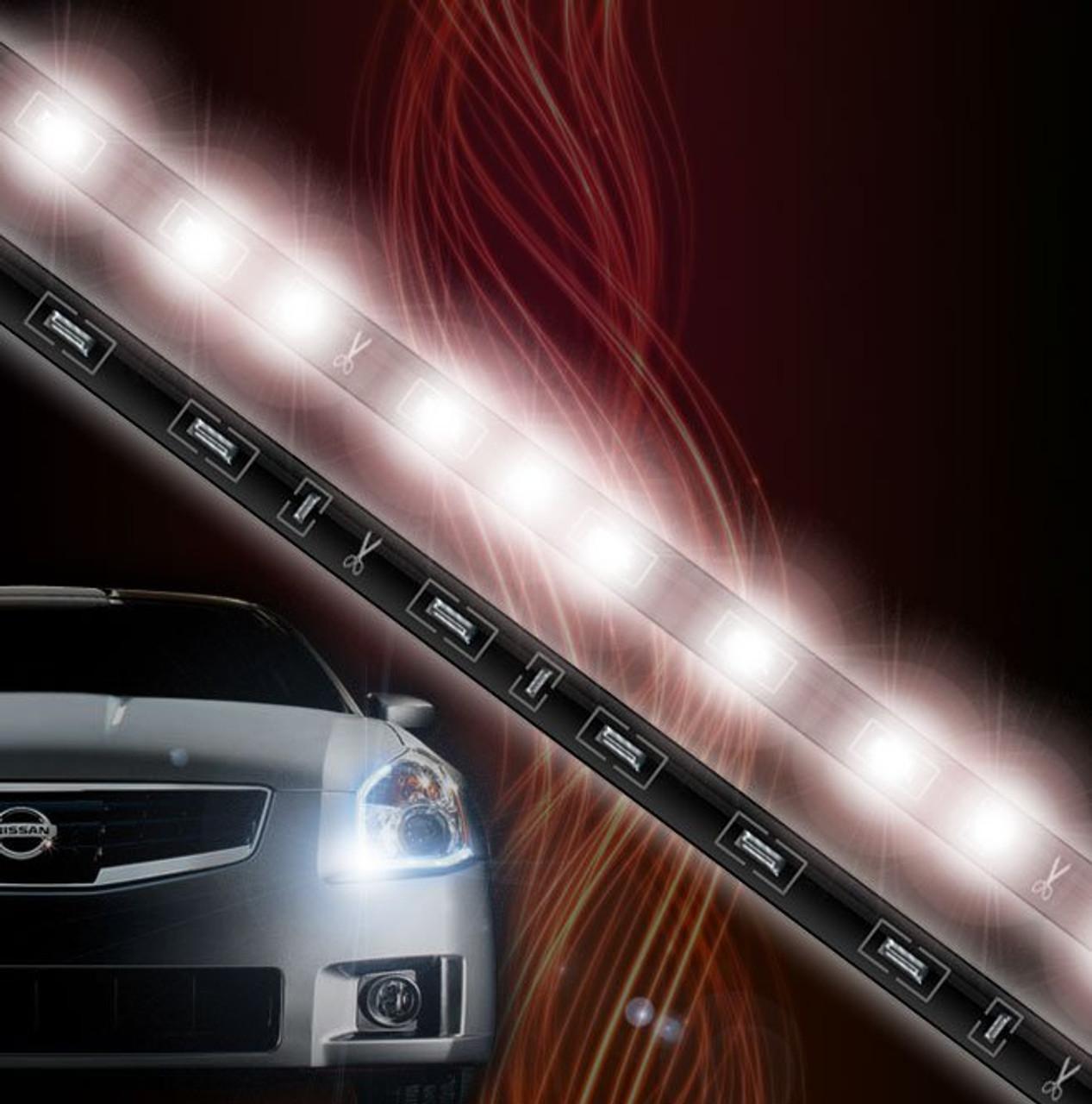 Nissan Xterra LED DRL Head Light Strips Daytime Running Lamps