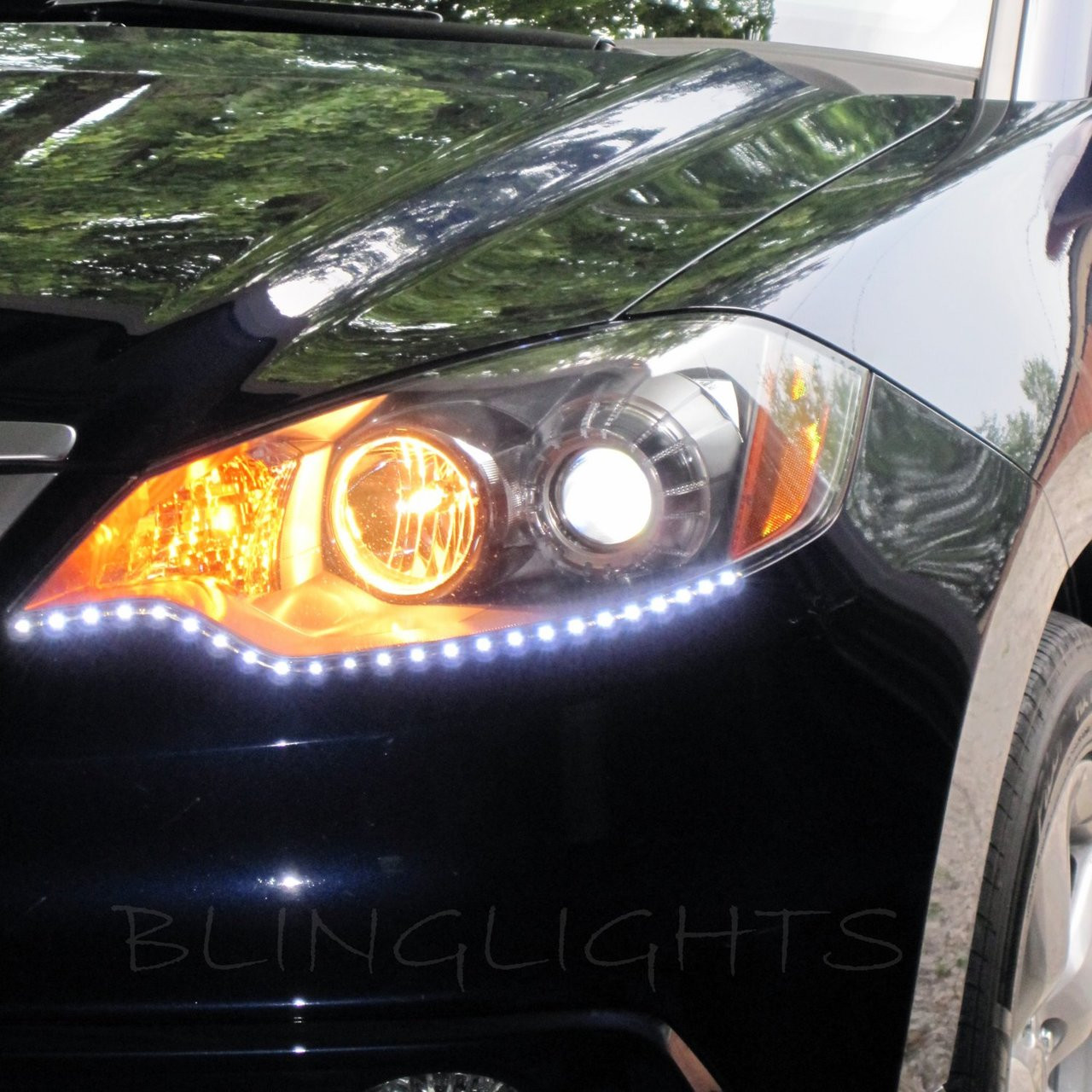 06-12 Acura RDX LED Strip Lights Day Time Running Lamps DRL Strips Set