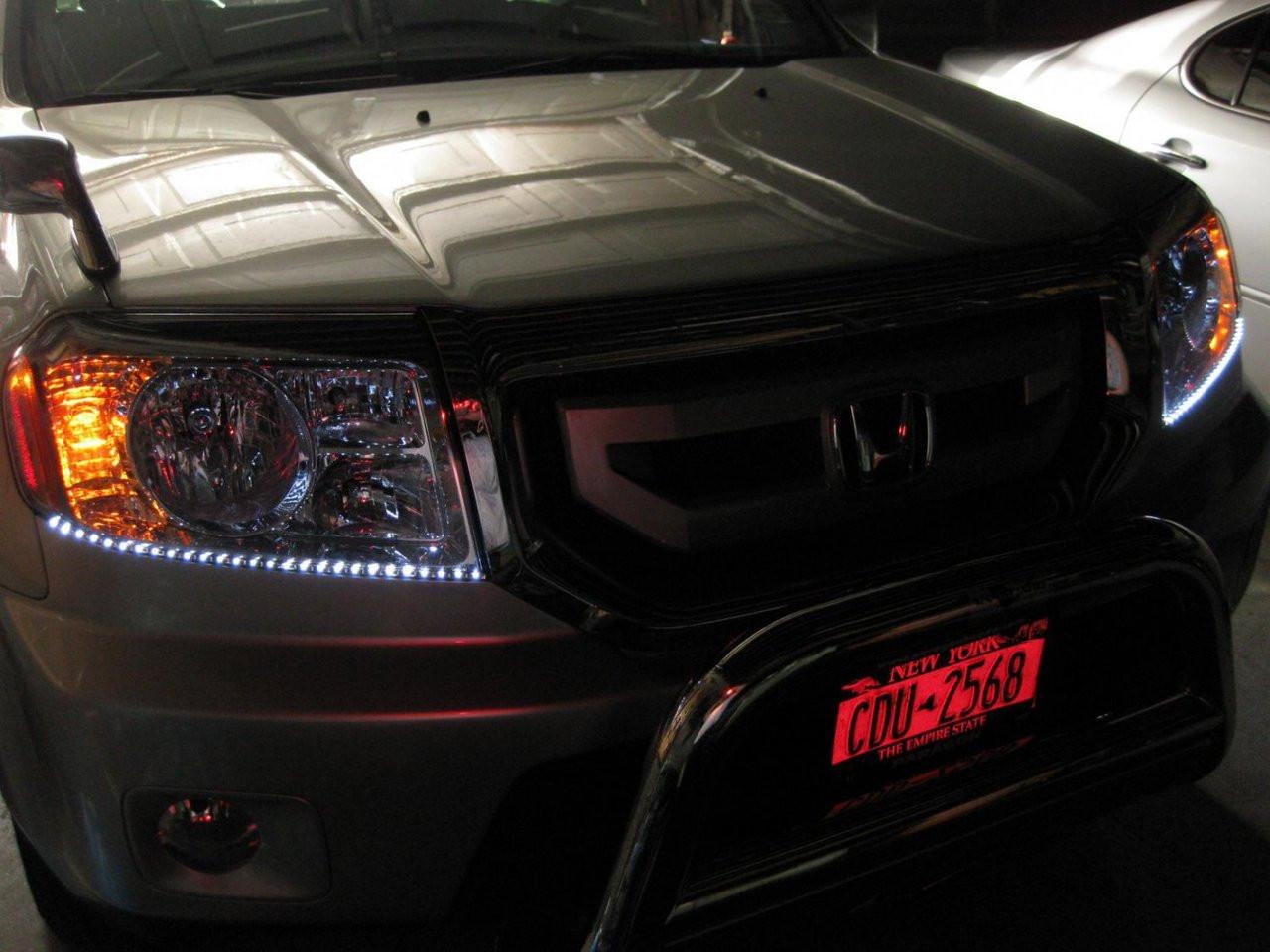 Honda Pilot LED DRL Head Light Strips Daytime Running Lamps