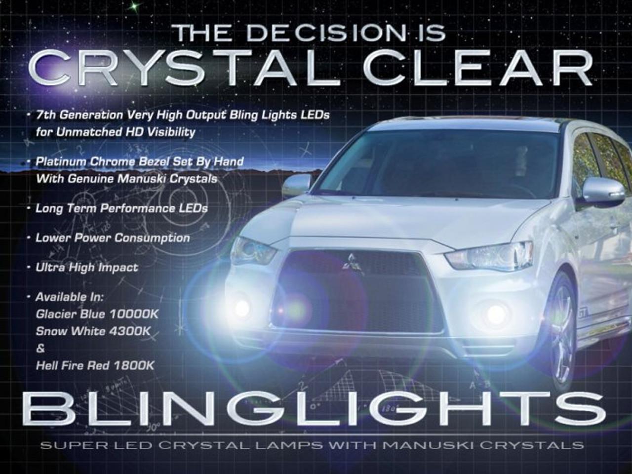 2010 2011 2012 Mitsubishi Outlander LED Foglamps Foglights Fog Lamps Driving Lights Kit