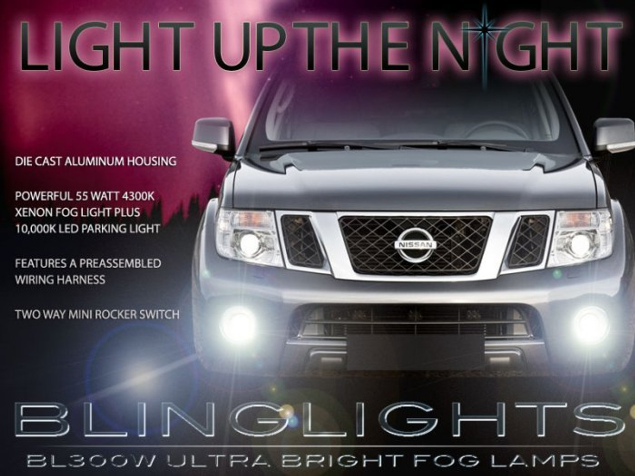 Fog Light Kit for Nissan Pathfinder R52 2017-ON with Wiring /& Switch