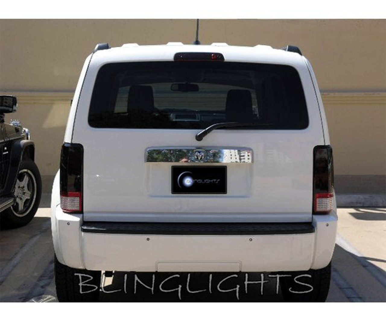 Jeep Liberty Tinted Smoked Taillamps Taillights Overlays Film Protection