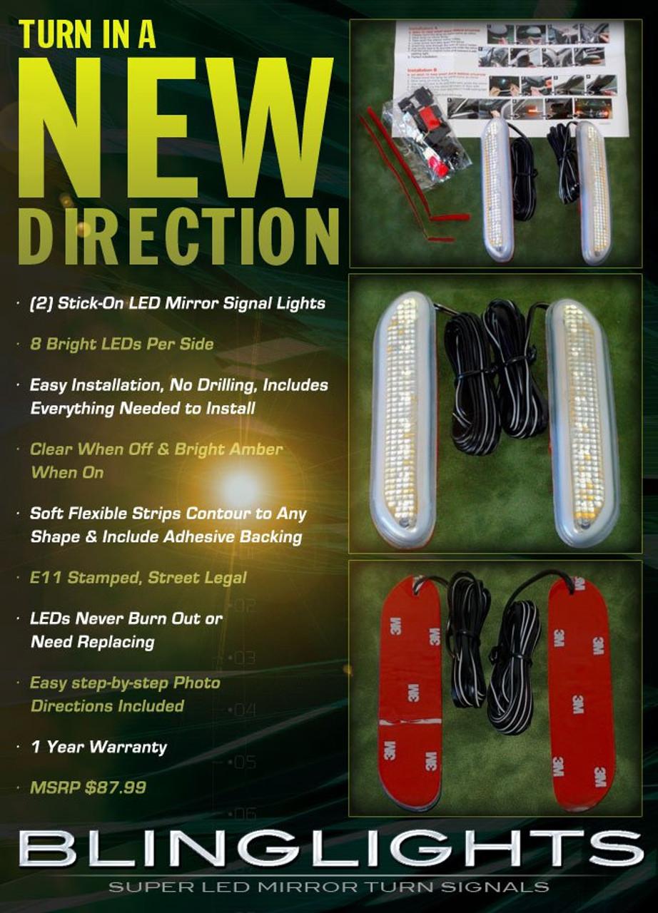 Hummer H2 Side Mirror Turn Signal Lamps LED Blinker Lights