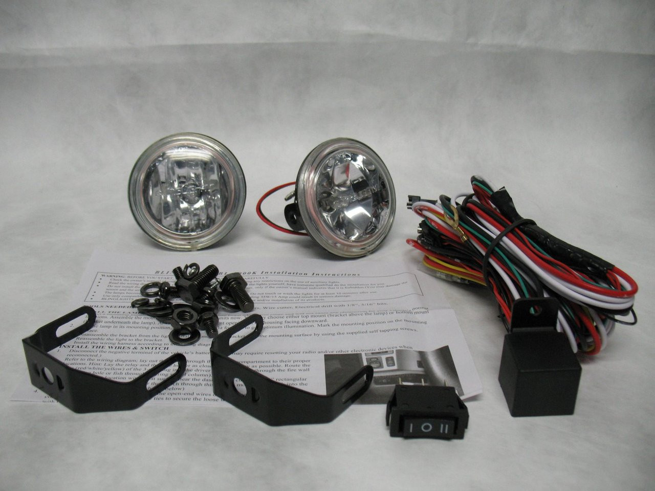 2013-2016 Mitsubishi ASX Halo Angel Eye Fog Lamps Lights