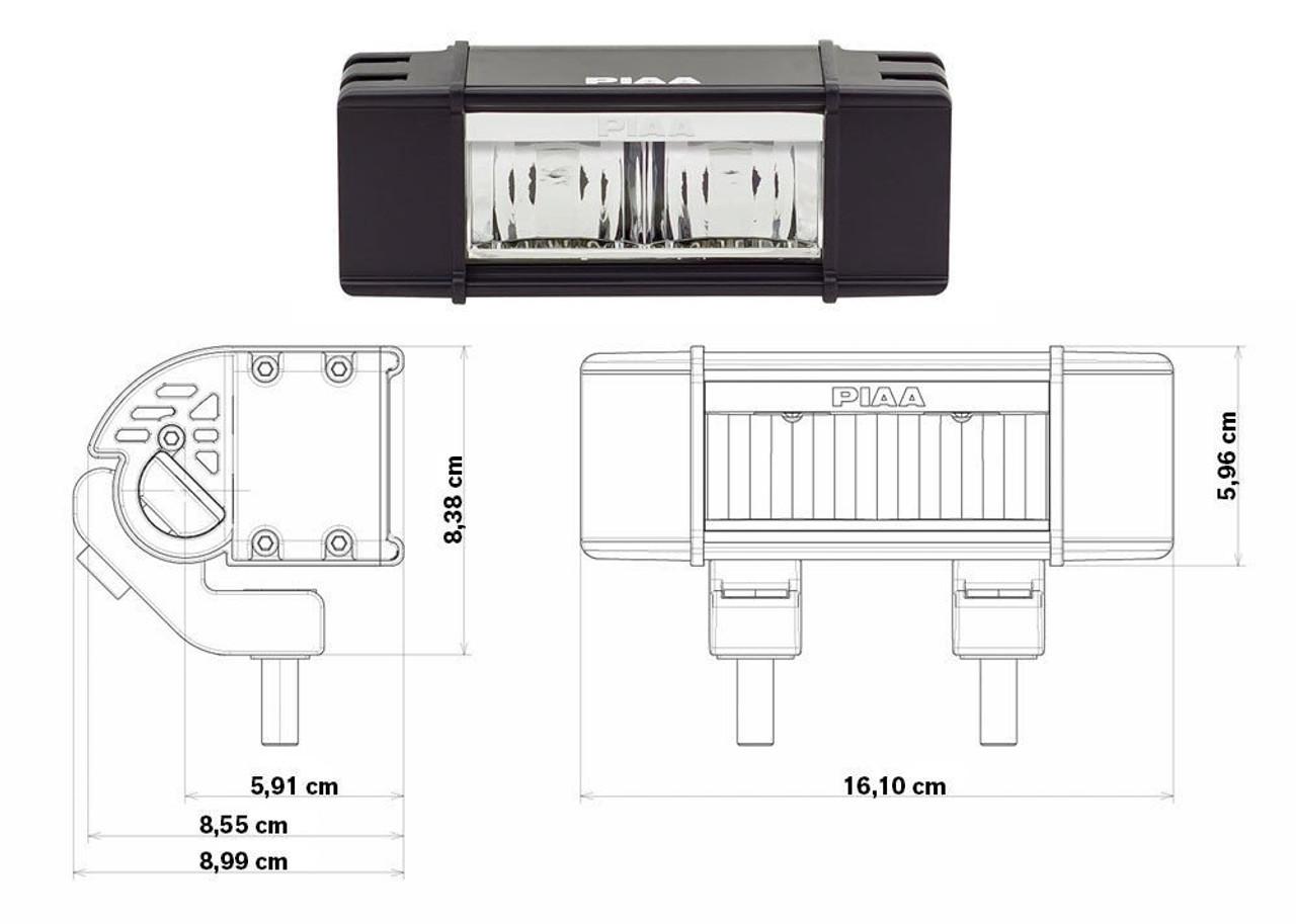 2020 2021 Kia Telluride 2x Lamp PIAA RF6 6000K LED Fog Light Kit