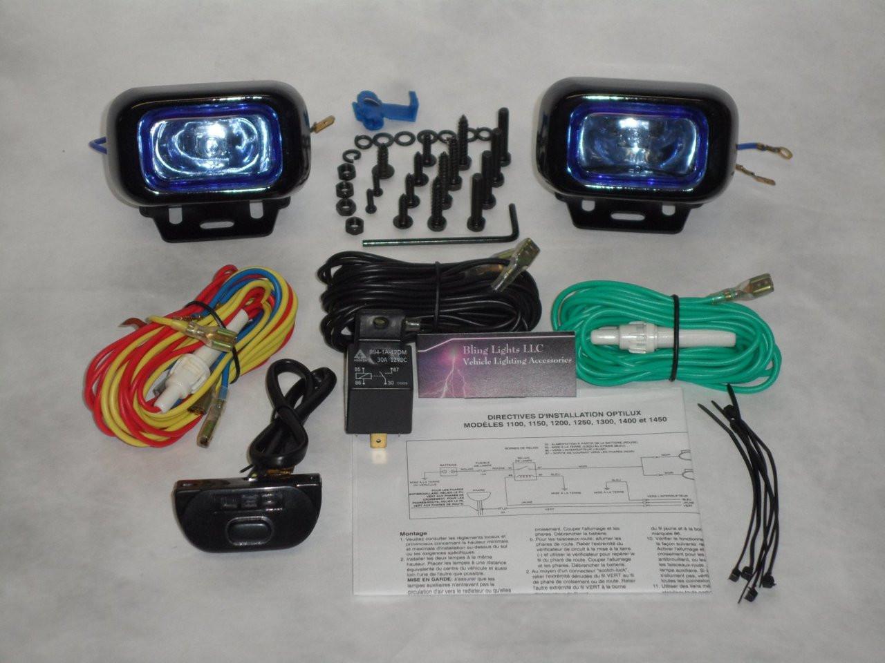 2019 2020 2021 Jeep Cherokee Xenon Driving Fog Lights Kit