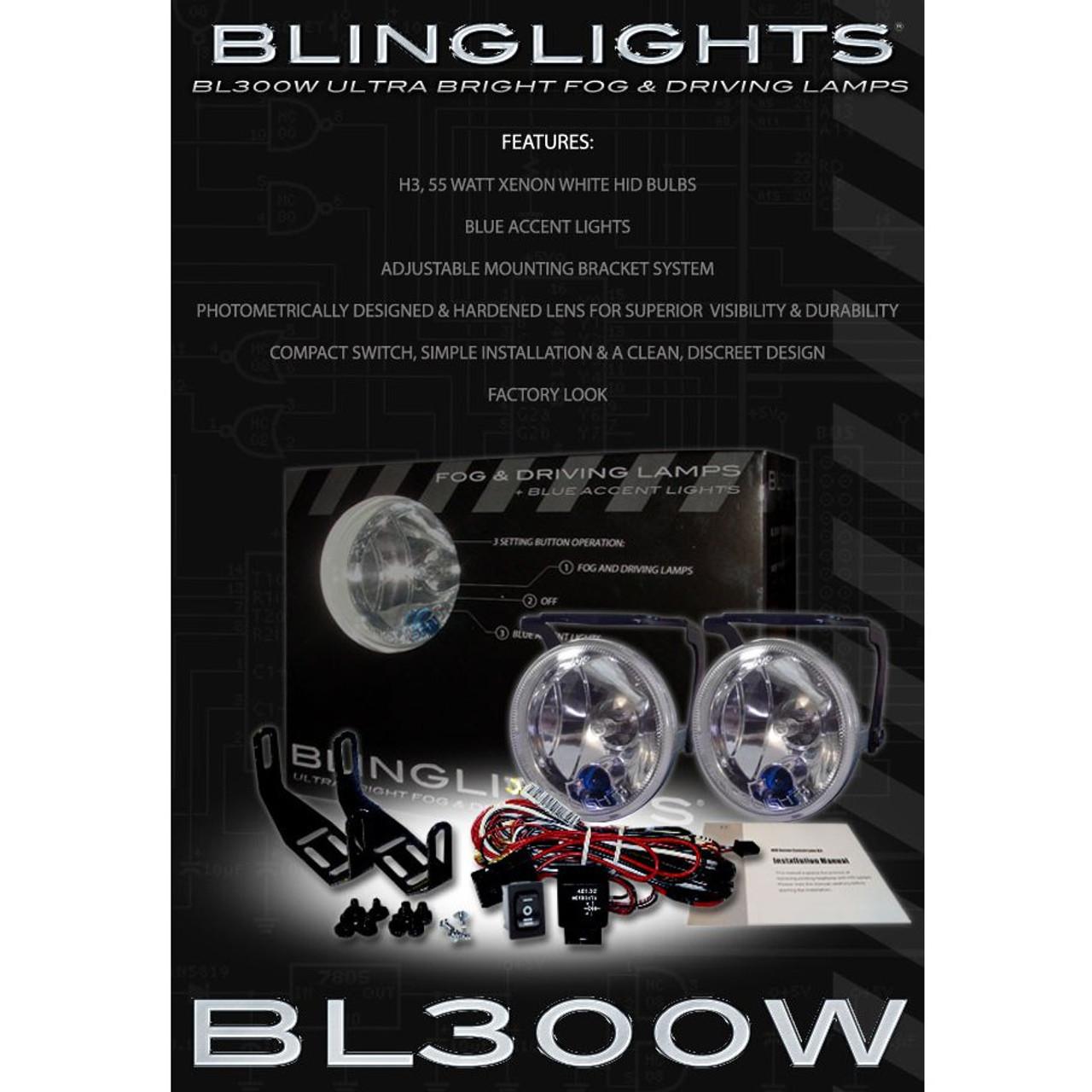 Xenon Halogen Fog Lamps Driving Light foglights Kit For 2011-2014 VW Touareg