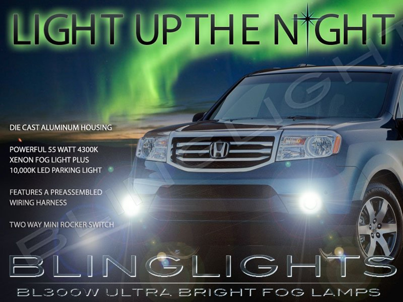 2012 2013 2014 2015 Honda Pilot Fog Lamps Driving Lights Kit -  BlingLights.comBlingLights.com