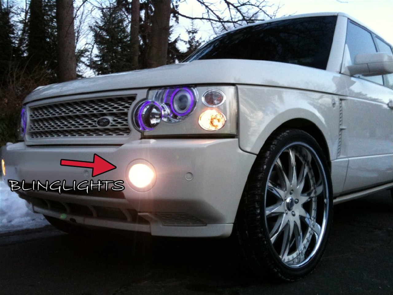 2003 2004 2005 2006 2007 2008 2009 Range Rover L322 Halo Fog Lamps Angel Eye Lights
