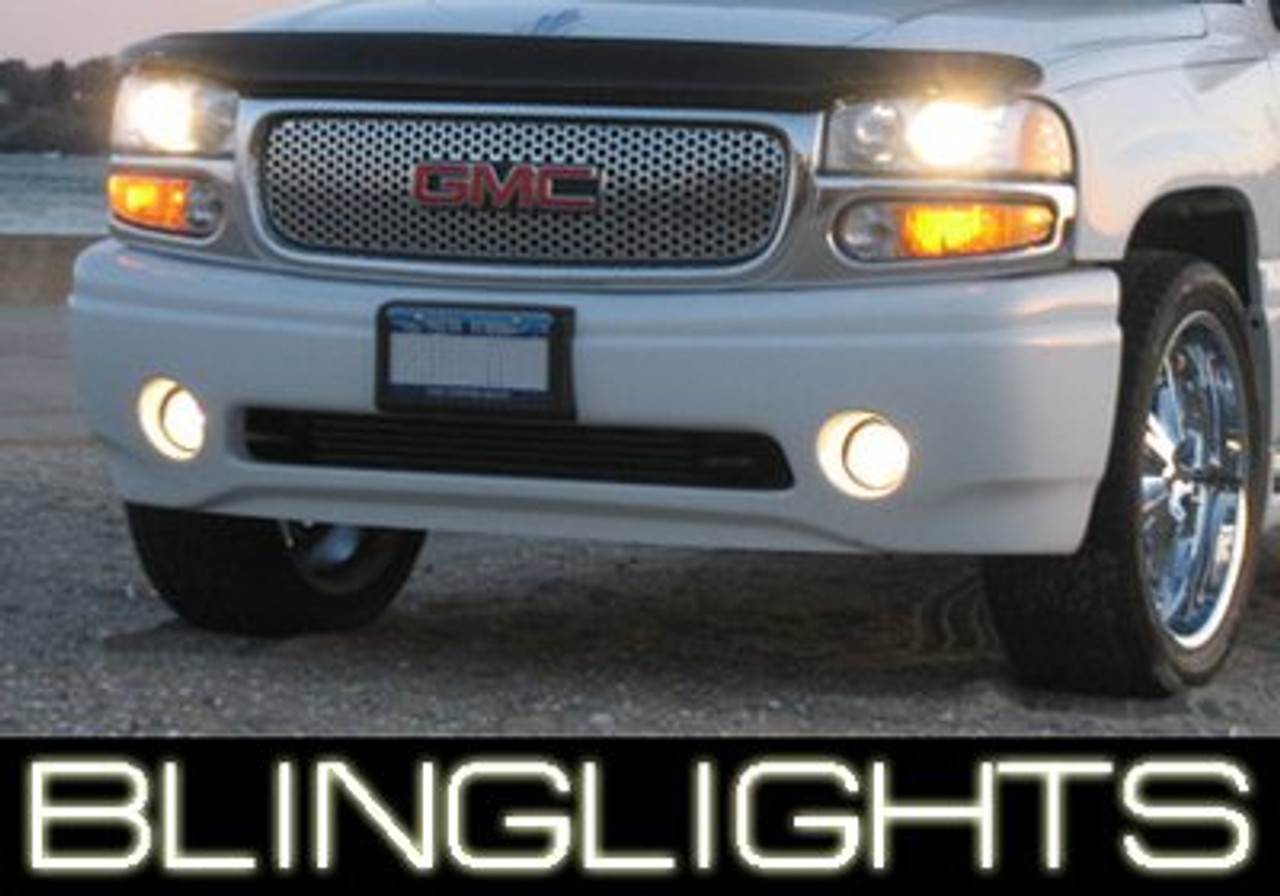 2001-2006 GMC Yukon Denali White Halo Fog Lamps Driving Lights