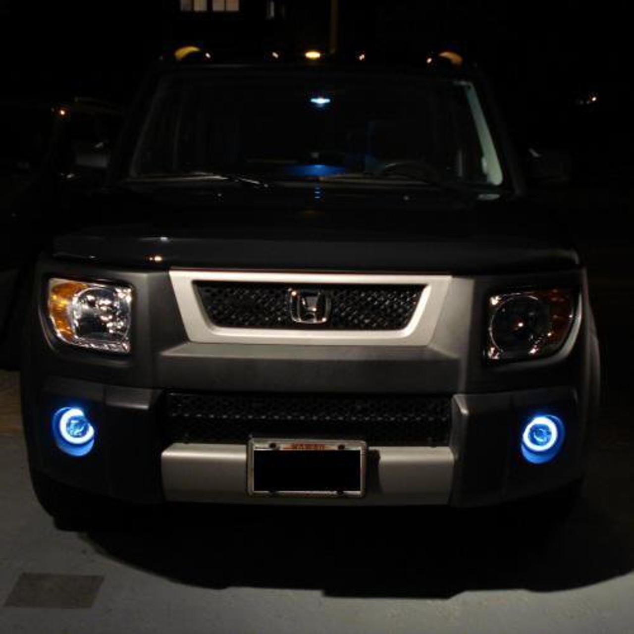 Honda Element Halo LED Fog Lamps Angel Eye Driving Lights Kit