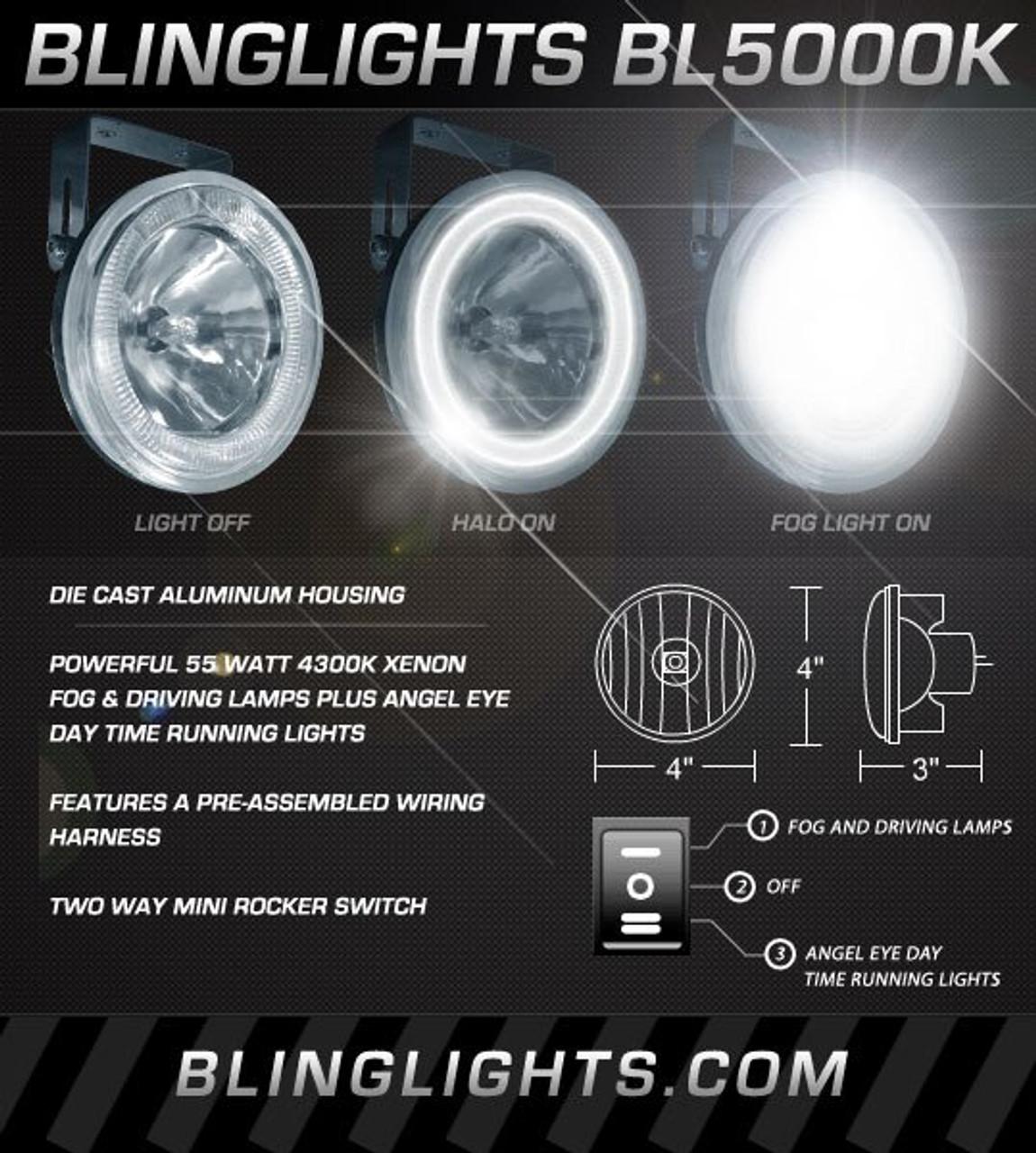 2002 2003 2004 Nissan Xterra Halo Angel Eye Fog Lamps Lights Kit  Xterra Fog Light Wiring Harness on